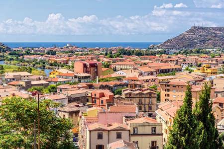 Mediterranean Bosa city Temo Sardinia