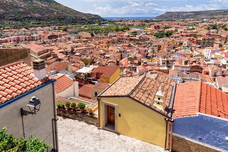 Valley Bosa city architecture Sardinia