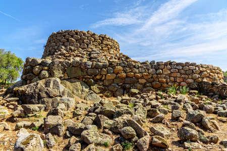 Nuraghe la Prisgiona hill sardine archeology