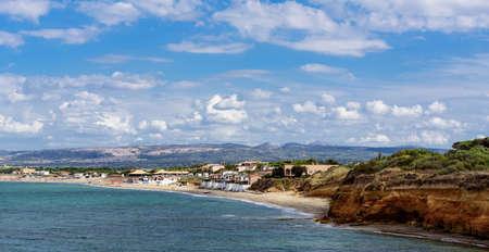 Platamona beach Mediterranean coast sardines