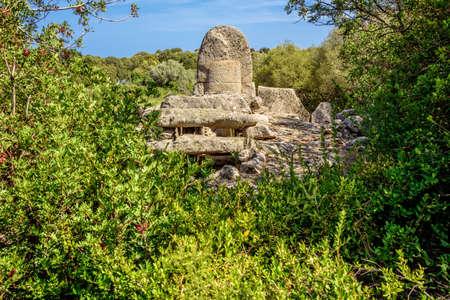 Tomba di Giganti Coddu Vecchiu Giant grave sardines