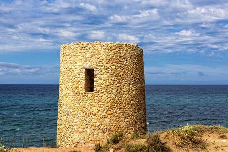 Defensive tower Sardinia Mediterranean coast