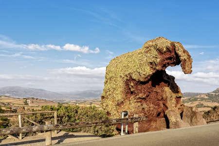 Elephant rock weathering boulders Roccia dell elephant