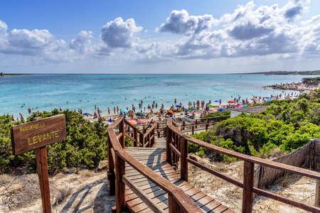 Passerella Levante Stintino beach Mediterranean
