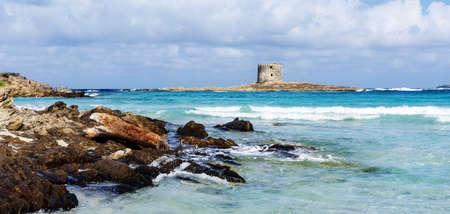 Spiagga della Pelosetta beach Torre della Pelosa defense tower
