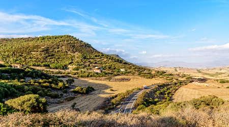 Road mountain Sardinia forest Archivio Fotografico