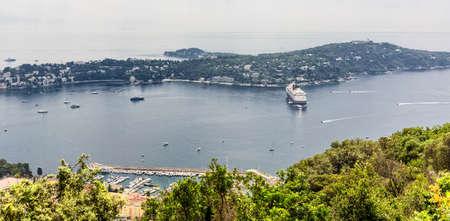 Baie des Anges bay Mediterranean cruise ship Nice