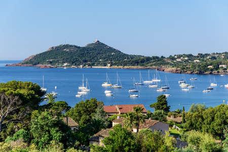 Yacht bay Agay Mediterranean Cote d'Azur