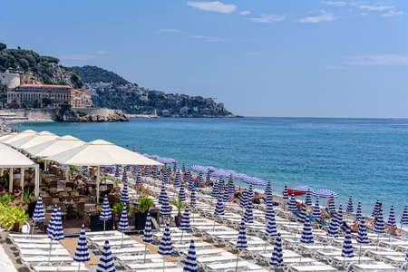 Parasol Nice beach coast Mediterranean Sea