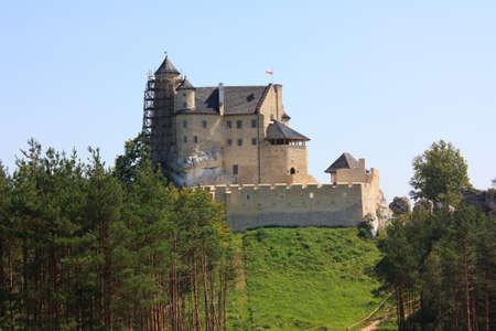 bobolice: medieval castle Bobolice Editorial