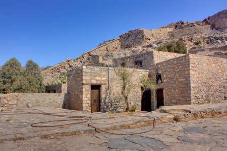 ruined: ruined house on leper island Spinalonga