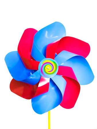 colorful windmill for kids on the white background Reklamní fotografie