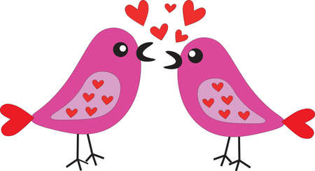 lovebirds: Two birds are singing a song about love.