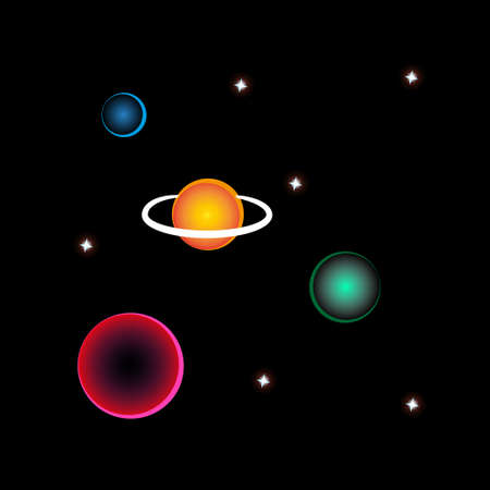 Stars and planets, a small part of the big universe.