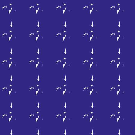 Seamless random patterns on a blue background on fabric, tile, etc. Çizim
