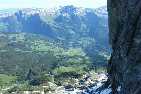 View from the Eiger in Grindelwald