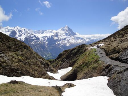 Eiger view Stock Photo