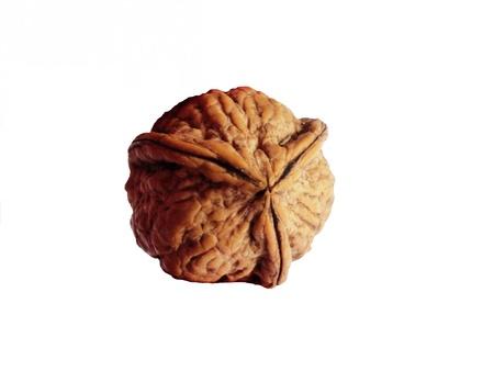 exceptionally: Three-piece walnut Stock Photo