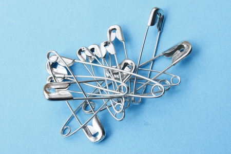 Safety pins Stock Photo