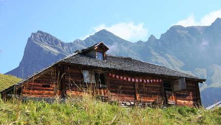 Alpine hut Stock Photo