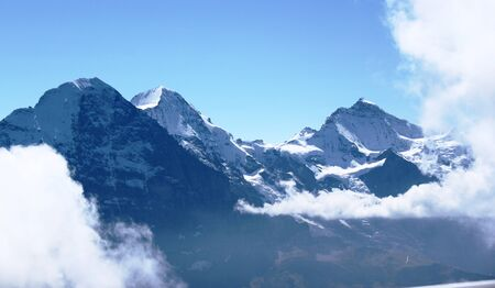 eiger: Eiger, Monch and Jungfrau Stock Photo