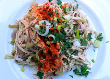 palatine: Palatine sausage salad