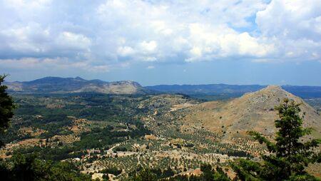rhodes: mountains of Rhodes Stock Photo