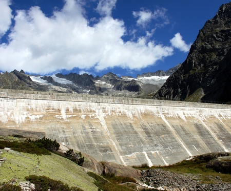 high mountains: dam in the high mountains