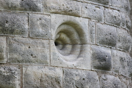 embrasure: Embrasure in the ramparts Stock Photo