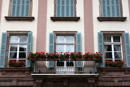 balcony window: Window facade with balcony