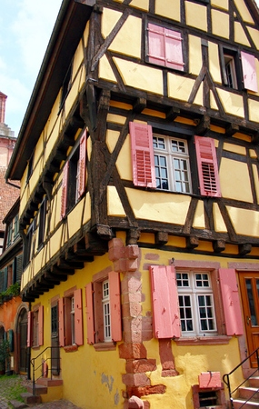 alsace: Colourful half-timbered houses in Alsace