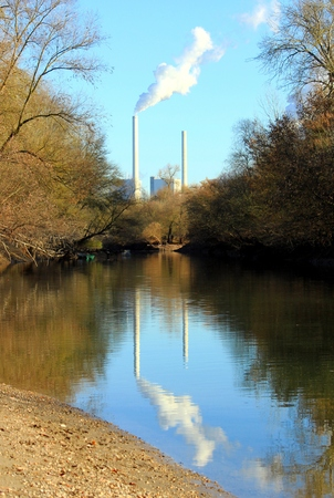 Power station on the river