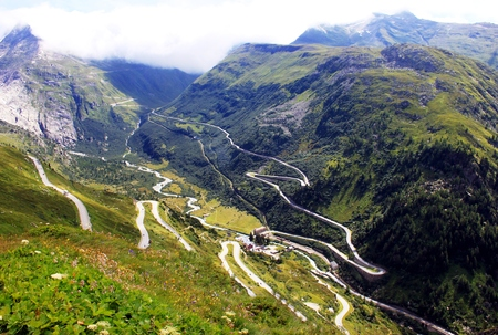 Pass road in the Alps