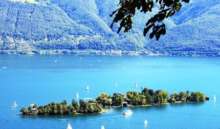 Brissago Islands in Lake Maggiore