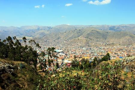 View to Cusco Peru
