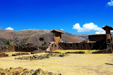Temple of Viracocha in the Andes of Peru 스톡 콘텐츠