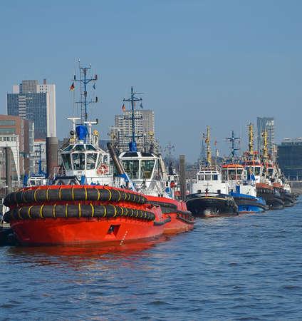 Hamburg, Germany, March 09. 2014 .; Tug in the port of Hamburg