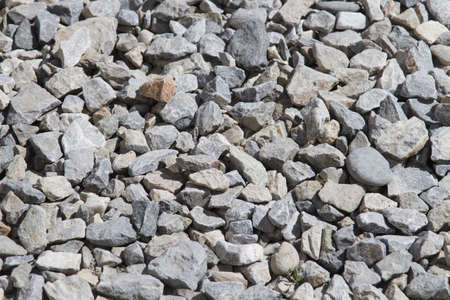gravel, rocks of different sizes and shapes photo