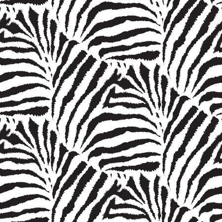 Vektornahtloses Muster mit Febra-Haut. Endloser moderner Hintergrund. Tierdruck