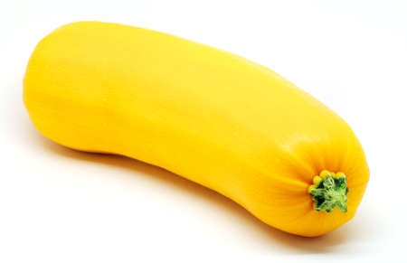 Yellow vegetable marrow on white background