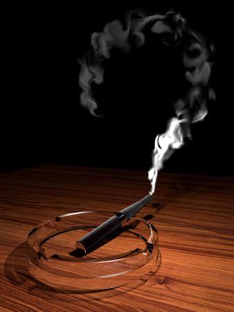 Black electronic cigarette (e-cigarette) Stock Photo - 7496017