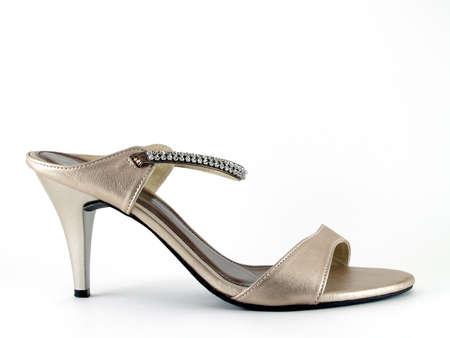 footwears: highheeled shoe on white background