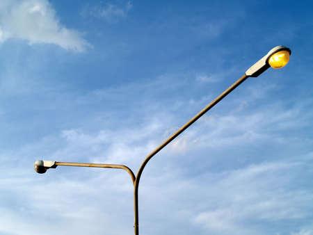 street light: street light and blue sky