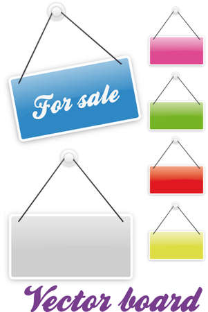 Board in several colors with claim For sale Vector