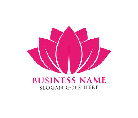 beauty lotus flower vector logo design