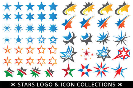 vector package of icon, button, illustration of star, star burst, star move.