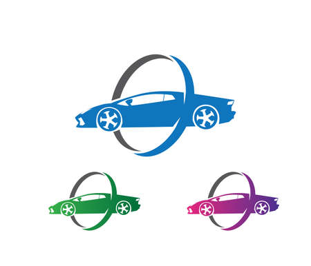 vector logo design of car insurance, car maintenance service, car protection, car performance