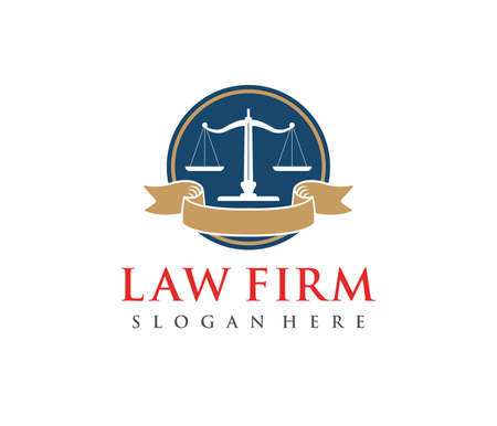 This is vector icon design illustration. Perfectly for branding like law firm business, attorney, advocate, court justice and everything related. Stock fotó - 94586404
