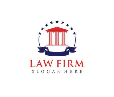 This is vector icon design illustration. Perfectly for branding like law firm business, attorney, advocate, court justice and everything related. Illusztráció