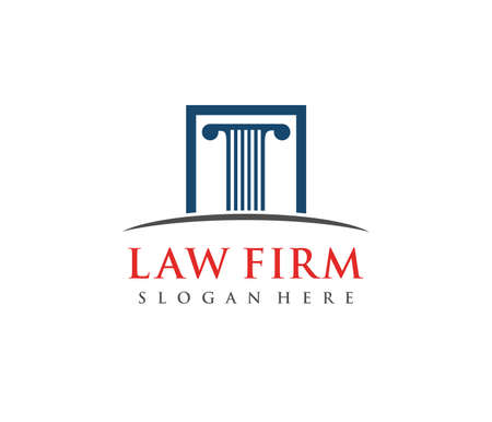 This is vector icon design illustration. Perfectly for branding like law firm business, attorney, advocate, court justice and everything related.